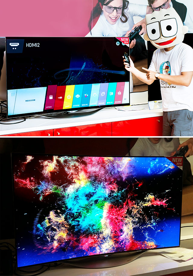 LG3CLG55型曲面OLEDTV出神入畫WRGB四原色OLED人體工學智慧遙控器webOS人2人2的插画星球People2instagrampeople2planet