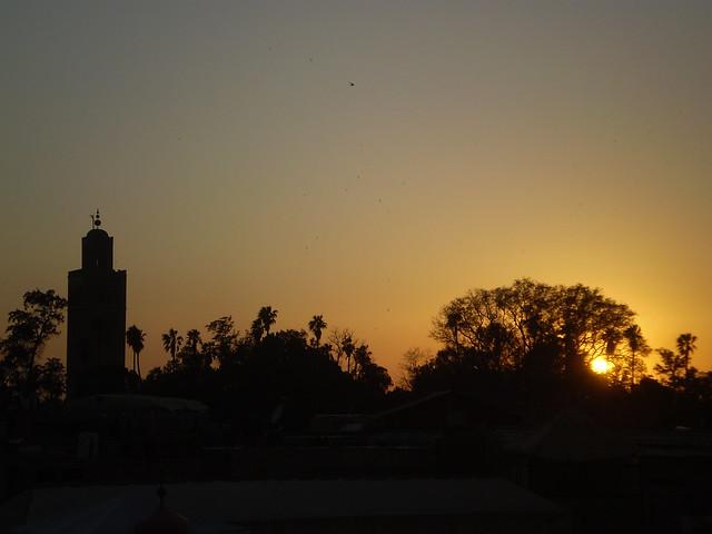 Marrakesh at sunset