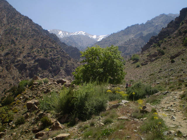 Exploring the countryside around Setti Fatma in the Atlas Mountains