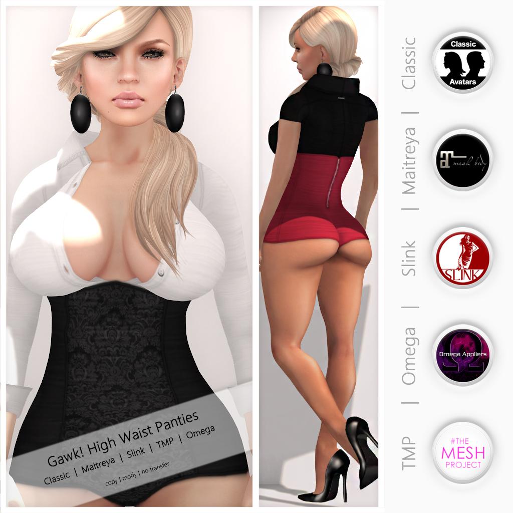 Gawk! High Waist Panties - Mesh Body Appliers | Mesh Body Ap… | Flickr