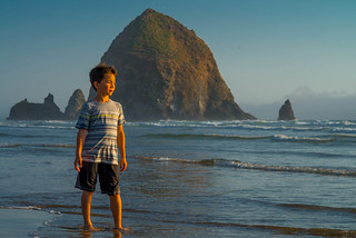 Golden Hour at Haystack Rock, Oregon, 2014