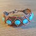 Copper and Hemimorphite Bracelet by Ruth Jensen