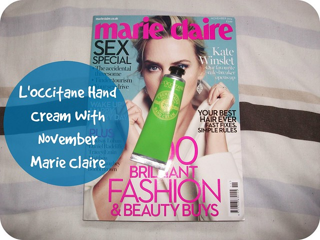 Magazine Freebies November 2014 Marie Claire L'Occitane