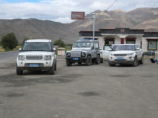 Land Rovers on tour