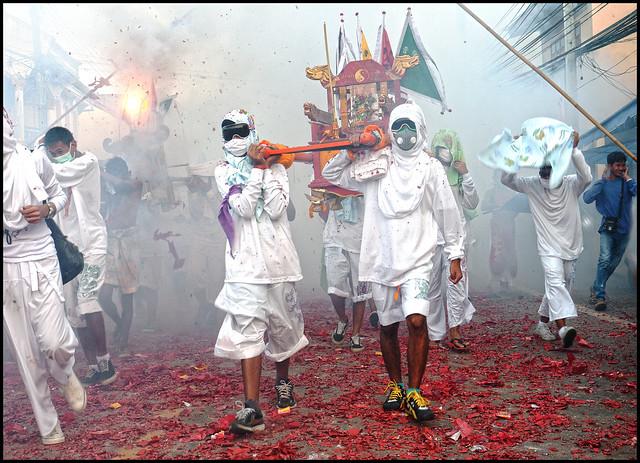 Firecrackers in Kathu village