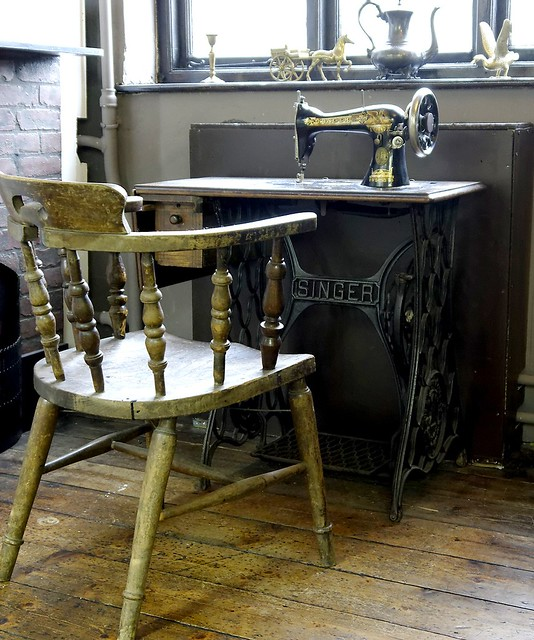 Singer sewing machine in Gloucester Folk museum