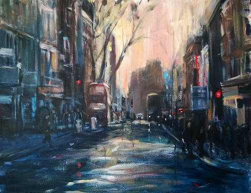 My new painting Charing Cross Road London