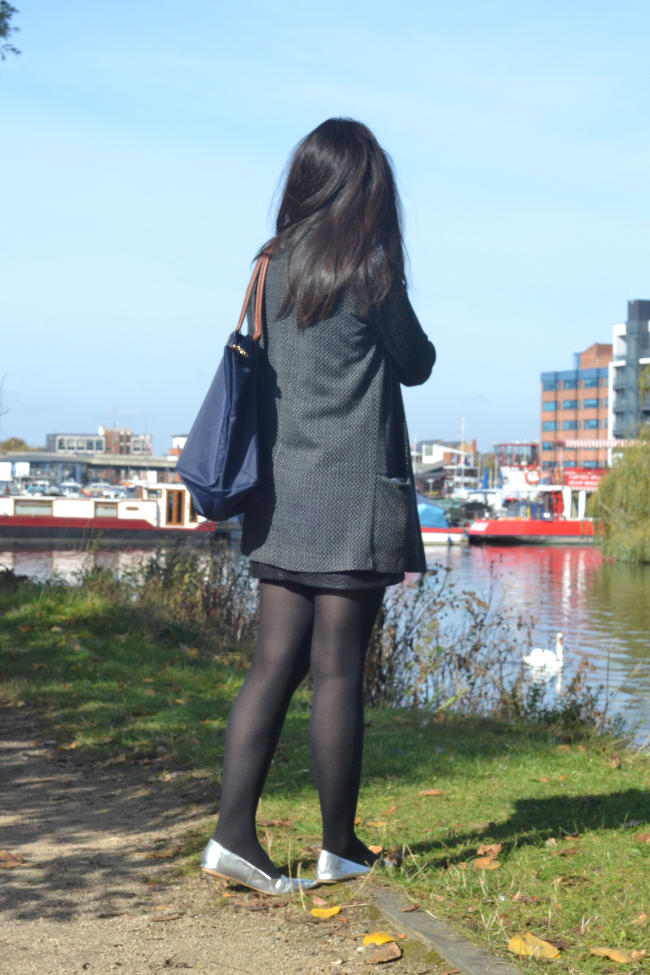 Daisybutter - UK Lifestyle and Fashion Blog: slogan t-shirt, zara leather skirt, lincoln brayford wharf
