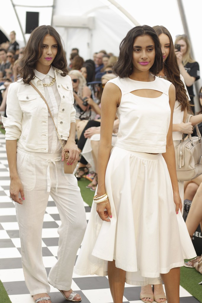 White outfit on Target runway