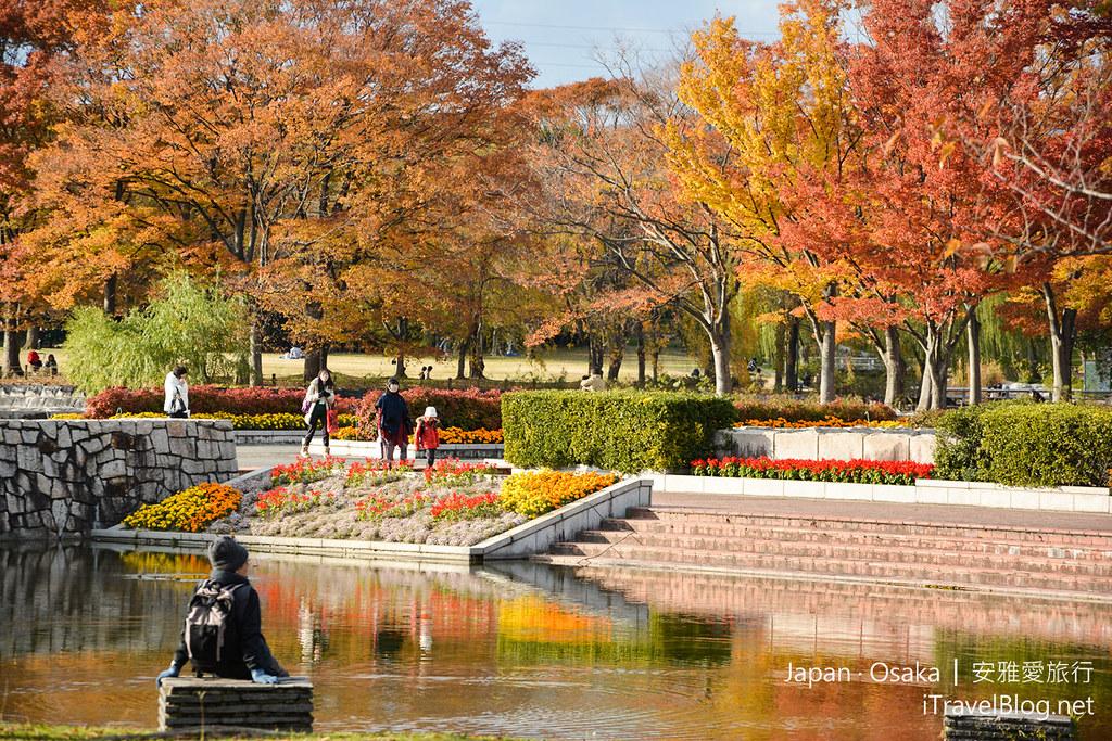 《大阪赏枫景点》万博纪念公园【上】:搭乘单轨电车前往快速道路旁的赏枫秘境。