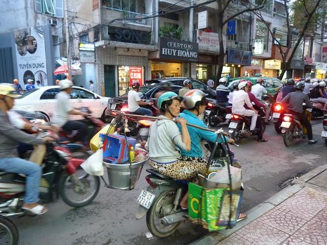 Tráfico en Saigón (Vietnam)