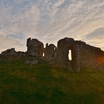 Ogmore Castle at Sunset