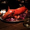 Suckling pig dinner for my birthday! #pigot. Thanks @chelsmstock for organizing such a great dinner! #birthday