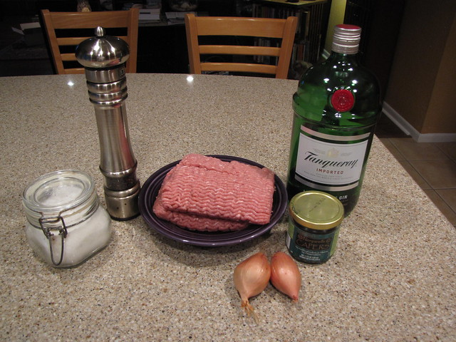 Gin Burger Ingredients