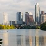 Lady Bird Lake Through Downtown Austin.