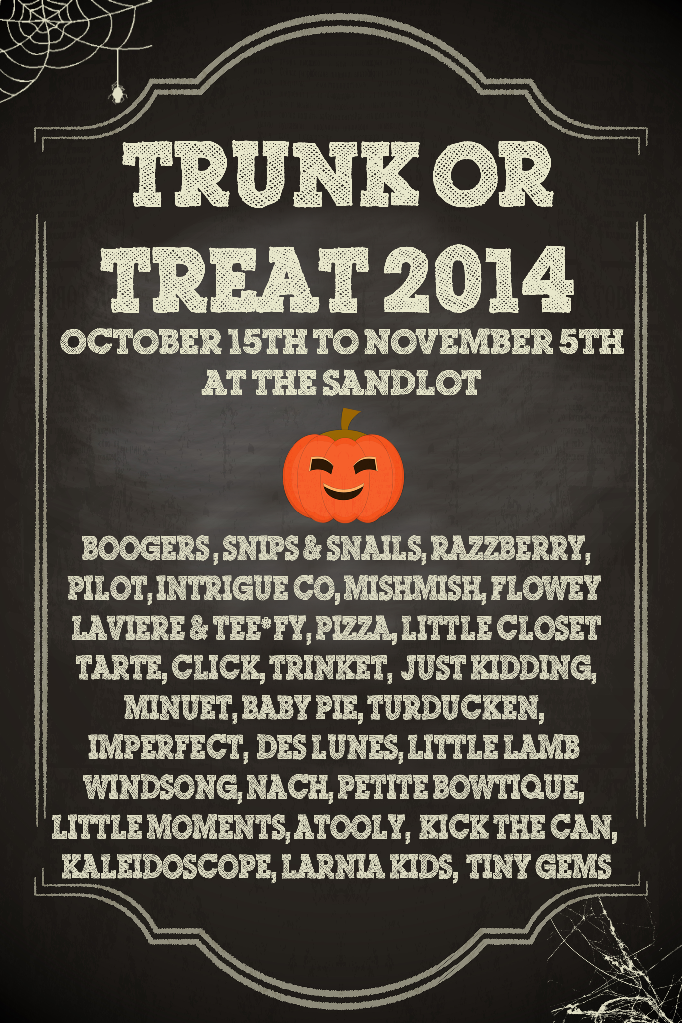 Trunk or Treat 2014 is comingggg