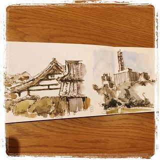 #urbansketch #japon #moleskine #carbon #platinum #watercolor #tokyo