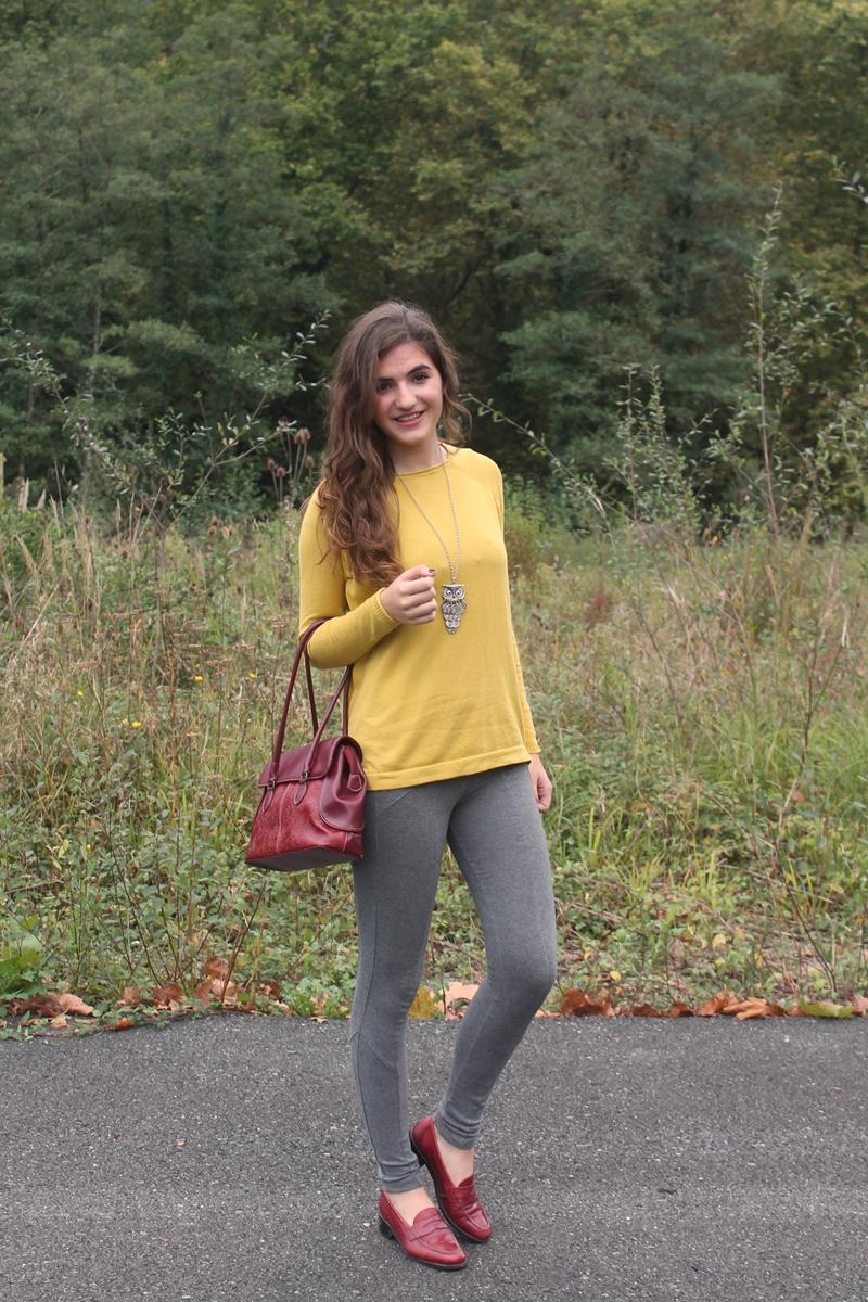 Mustard & burgundy