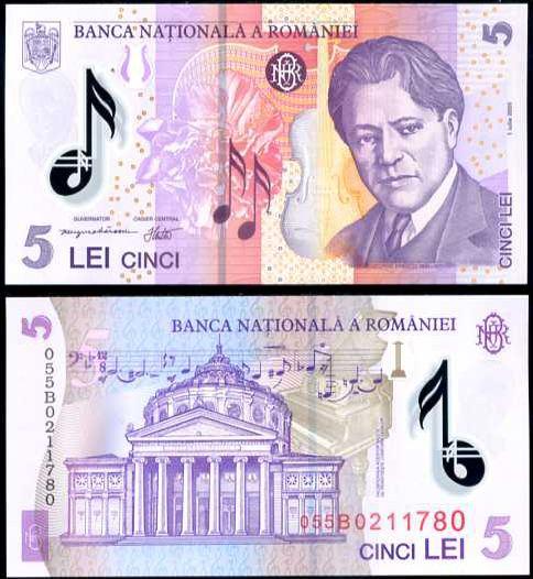 5 Lei Rumunsko 2005, polymer, Pick 118