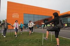 Semaine Bleue 2014 : marche nordique au stade Colette Besson