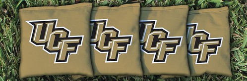 CENTRAL FLORIDA UCF KNIGHTS GOLD CORNHOLE BAGS
