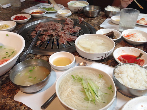 Cooking Bulgogi at The Corner Place