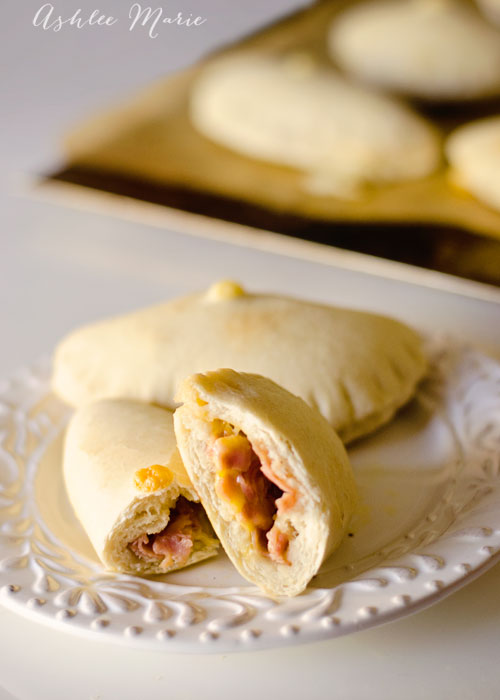 a simple meat and cheese homemade hot pocket is popular with all my kids for lunch or after school snacks