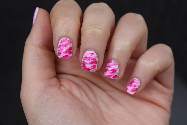 Pink Brushstroke Nails | Manicure | #LivingAfterMidnite