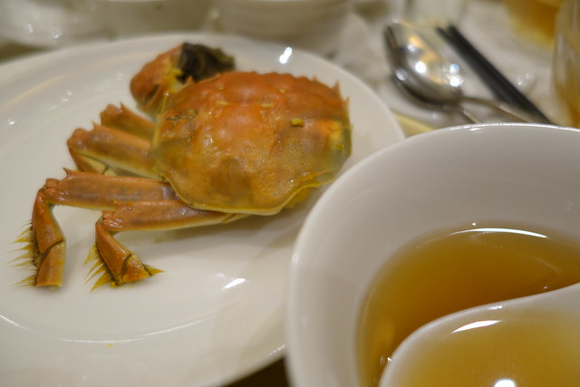 Flambee Drunken Hairy Crab served with Superior Herbal Soup - Royal Pavilion