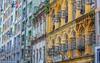 Pastel facades of Yangon