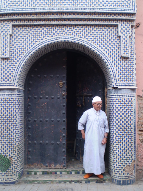 Surveying the street, Marrakesh