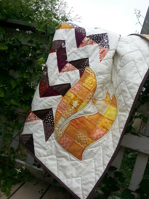 Fox Applique quilt