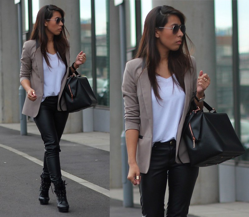 Article 21 Fashion & Style Blog, H&M Faux Leather Trousers, Imitation Leather Trousers, How to Wear Leather Trousers, Black Wet Look Leggings, Wet Look Trousers, Zara Rose Gold Hardware, Zara Box Bag, uk fashion blogger, top uk blogs, best uk fashion blogs, british fashion blogs, uk chinese blogger, manchester fashion blogger