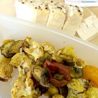Honey Roasted Veggies and Swordfish