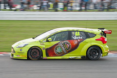 BTCC Silverstone 2014-Crabbies Racing Ford Focus ST driven by Jack Clarke.