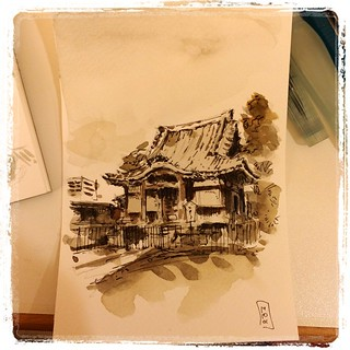 #pfj #carbon #watercolor #japon