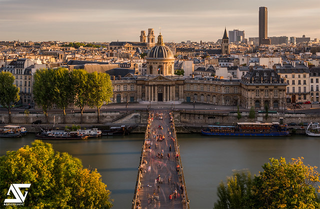 Pont des Arts from Louvre @ Sunset