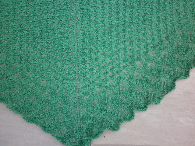 The lace pattern before blocking