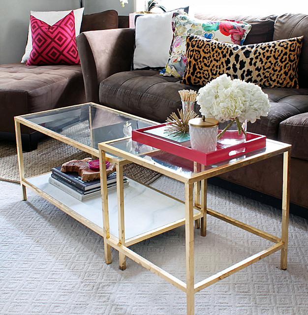 the Hunted Interior - Ikea Coffee Table - Gold