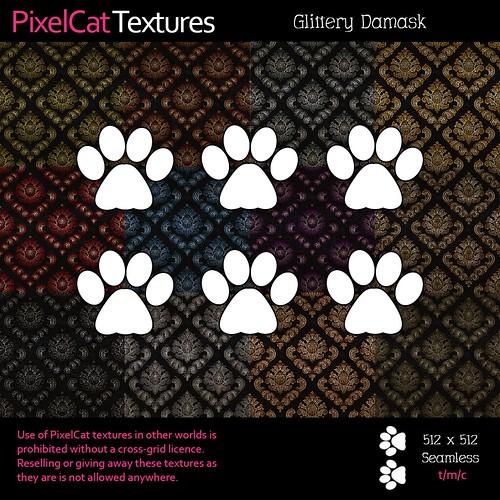 PixelCat Textures - Glittery Damask