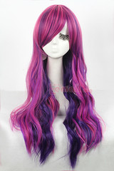 70 cm long Mix color wavy cosplay wig ZY08