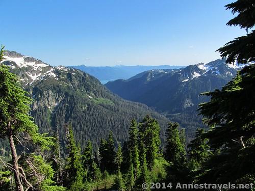 Valley views when we got off the Artist Ridge Trail, Mount Baker-Snoqualmie National Forest, Washington