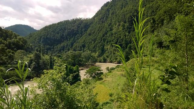 Arniko Highway, lunch stop view