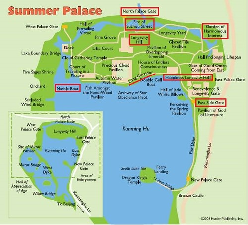 Beijing-Palais d'été-carte