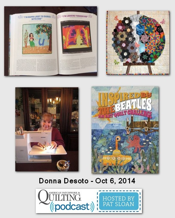 American Patchwork and Quilting Pocast Donna Desoto Oct 2014