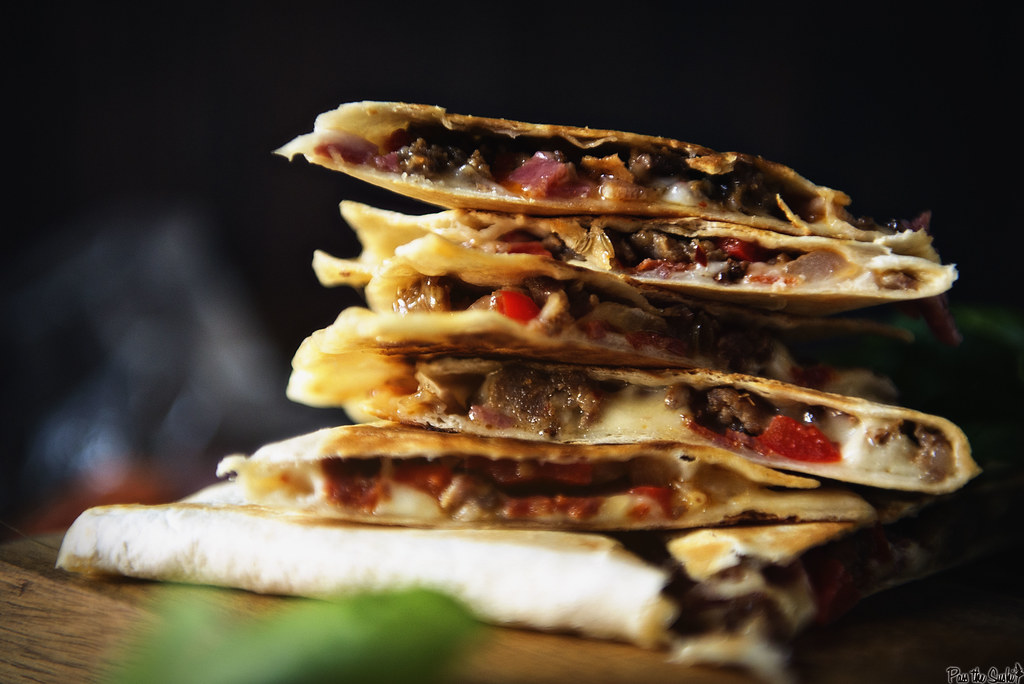Meat Lovers Quesadilla || GirlCarnivore.com6