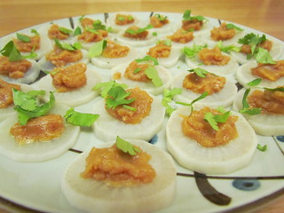 Daikon Canape with Sweet Miso Sauce