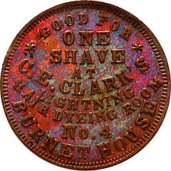 OH165Y Black issuer Civil war token