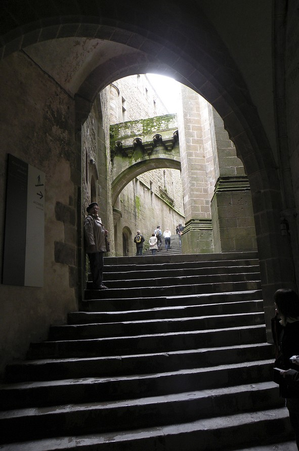 escalier du Mont Saint-Michel