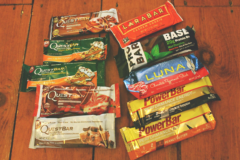 quest bars etc